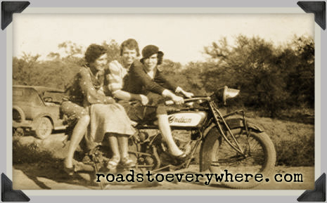 Motorcycle gals 1934