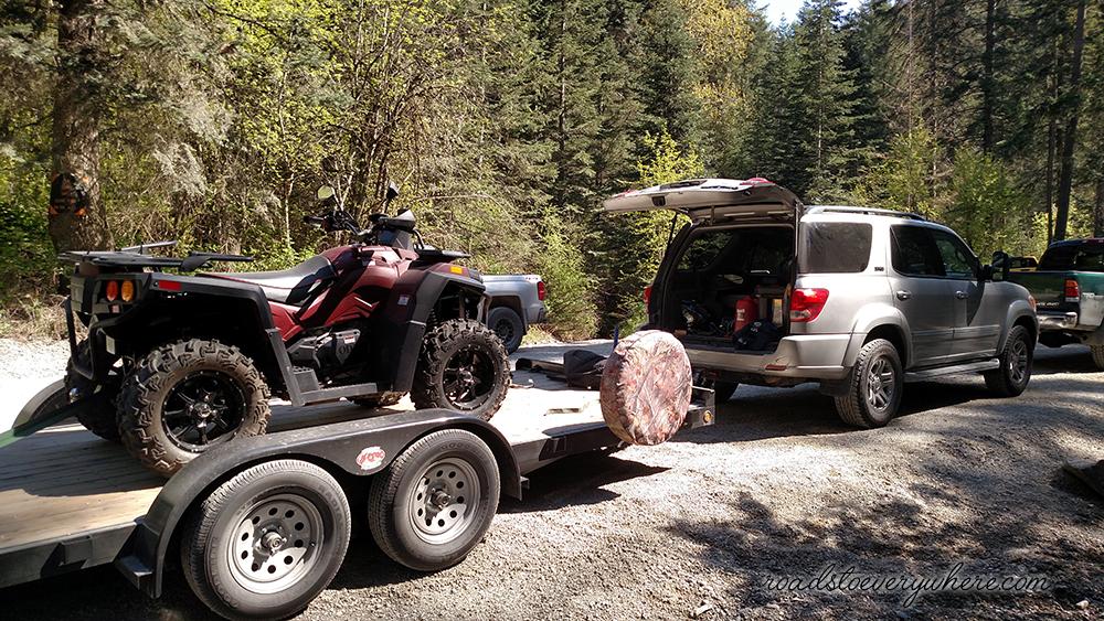 ATV on trailer