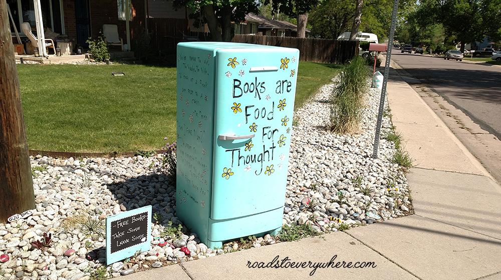 Vintage Fridge Little Free Library