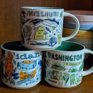 Starbucks Been There mugs