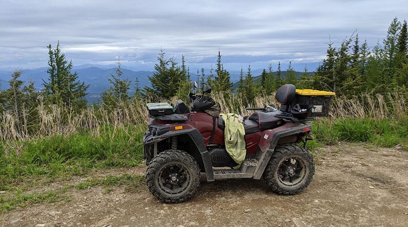 ATV with mountain view